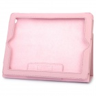 Stylish Protective Holder Leather Case for The New Ipad - Pink