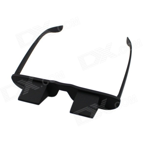 Novelty Bed Lie Down Periscope Glasses - BlackEyeglasses<br>Model:Form  ColorBlackMaterial:Lens ColorBlackPacking List<br>