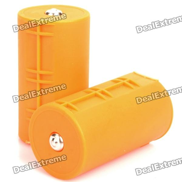 AA-to-D Battery Converter Cases - Orange (2-Pack)