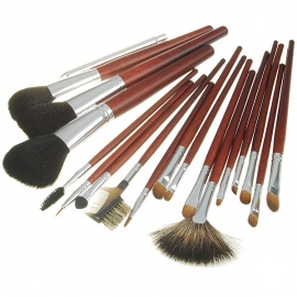 Professional-Wolf-Hair-Make-up-Brushes-with-Stylish-Bag-(18-Piece-Set)