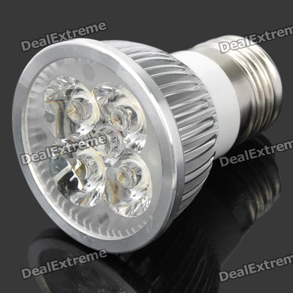 Buy E27 4W 380LM 3200K Warm White Light 4-LED Spotlight Bulb (87~265V) with Bitcoin with Free Shipping on Gipsybee.com