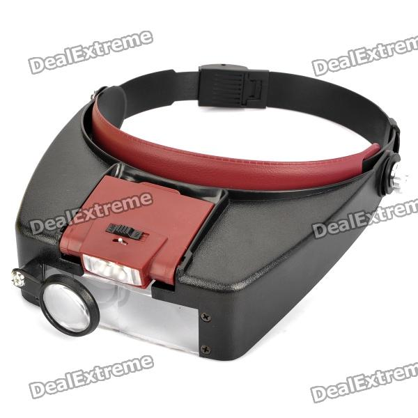 Buy Headband Type Magnifier with 2-LED White Light (3 x AAA) with Litecoins with Free Shipping on Gipsybee.com