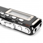 "1.3"" Digital Voice Recorder w/ MP3 Player - Black + Silver (8GB/2*AAA)"