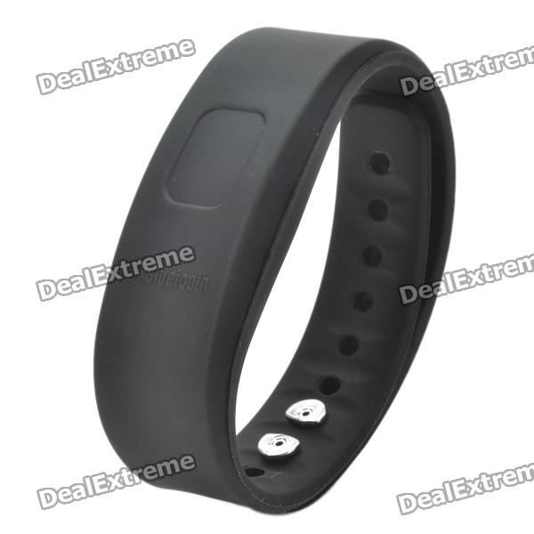 Bluetooth V2 0 Incoming Call Vibrate Alert Alarm Anti Lost Band Bracelet Black 90 Hour Standby