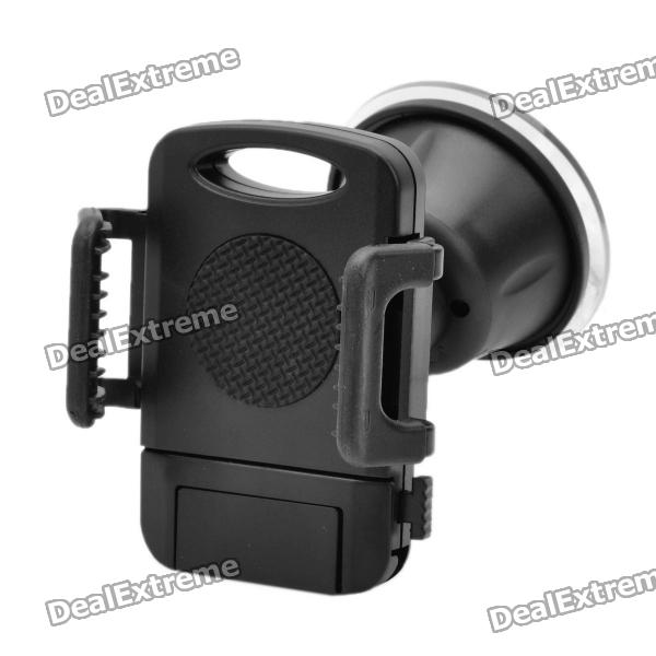 Buy Car Swivel Suction Cup Mount Holder for Cellphone - Black with Litecoins with Free Shipping on Gipsybee.com