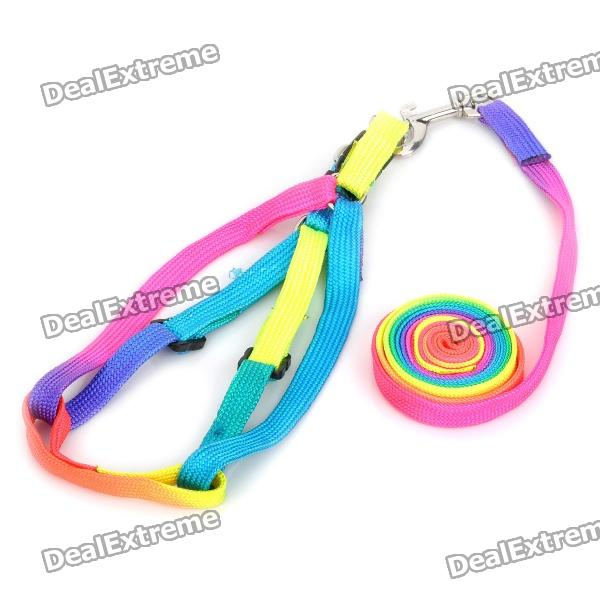 Buy Adjustable Multi-Colored Strap Pet Dog Leash with Litecoins with Free Shipping on Gipsybee.com