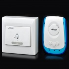 2W-38-Melody-433MHz-Wireless-Doorbell-TransmitterReceiver-Set-White-2b-Blue-(1-x-23A-12VAC-220V)