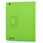 Protective Sheepskin Leather Case with Screen Protector for New Ipad - Green