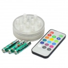 15-Mode 9-LED Multi-Colored Decorative Lamp w/ Remote Control - Transparent White (3 x AAA)
