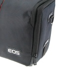 Protective One-Shoulder Bag w/ Rain Cover for Canon DSLR - Black