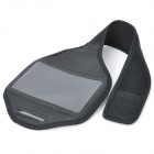 Gimnasio Deportes Arm Band Case for HTC One X - Negro (45cm-Full Length)
