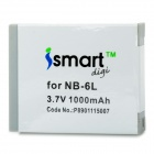 ISMARTDIGI Replacement NB-6L 3.7V 1000mAh Battery for Canon IXUS 310HS / IXUS 300HS + More