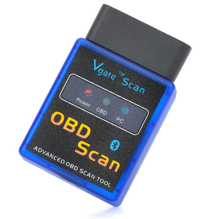 OBD2 OBDII Bluetooth Auto Car Diagnostic Scan Tool - Blue (12V)