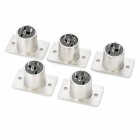 3-Pin XLR Male Adapter Connectors - Silver (5PCS)