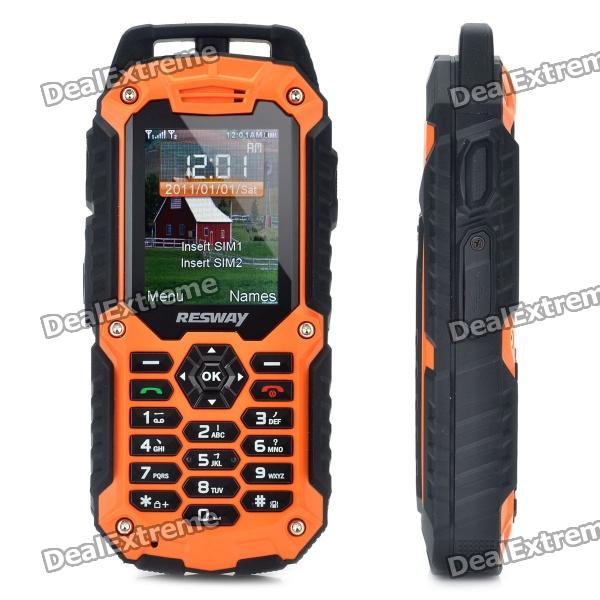 Resway T99 Ultra Rugged Gsm Cell Phone W 2 0 Lcd Quad Band Dual Sim And Fm Orange 1gb Tf