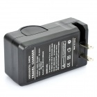 Dual Slots Li-Ion 18650 Battery Charger - Black (US Plug)
