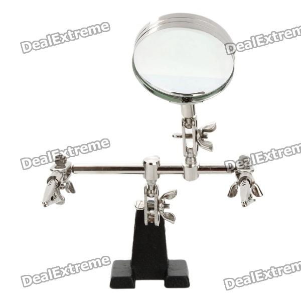 Helping Third Hand Soldering Stand w/ 2X Magnifying Glass