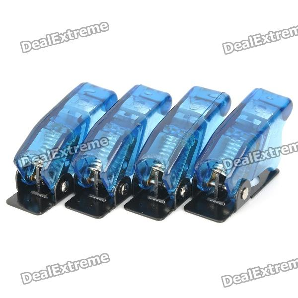 DIY Toggle Switch Flip Safety Covers Guards - Blue (4-Pack)