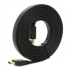 1080P HDMI 1.4 Male to Male Flat Connection Cable - Black (300cm)