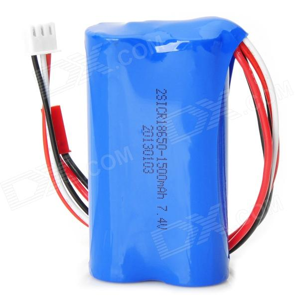 Buy 7.4V 1500mAh Li-ion Battery for T-23 T623 848 R/C Helicopter - Blue with Litecoins with Free Shipping on Gipsybee.com