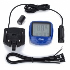 "1.5"" LCD Electronic Bicycle Computer/Speedometer - Blue"