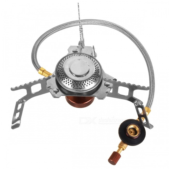 Detachable Portable Outdoor Gas Stove - Silver + Golden