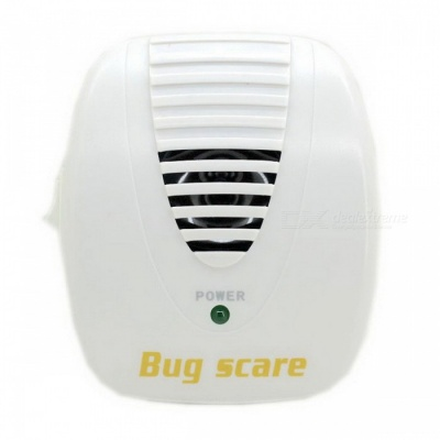 Electronic Ultrasound Mouse Pest Repeller - White (90-250V/2-flat-pin Plug)