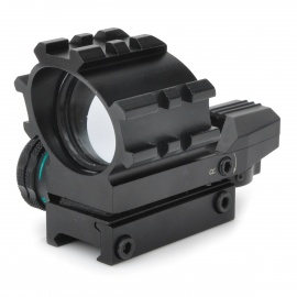 Aluminum-Alloy-Tactical-4-Reticle-Red-and-Green-Dot-Sight-Scope-with-Gun-Mount-(1-x-CR2032)