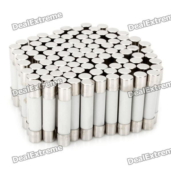 15A Ceramic Tube Fuse Set (100-Piece Pack / 6 x 30mm)