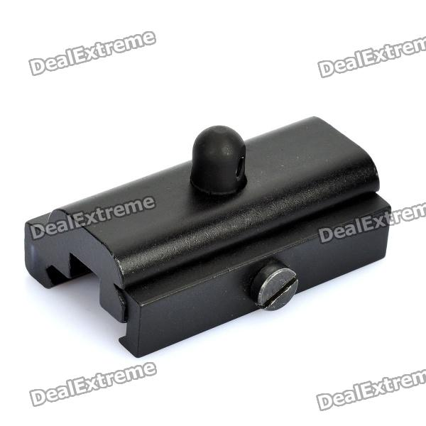 C003 21mm Aluminum Alloy Bipod Clip Adapter for Airsoft - Black