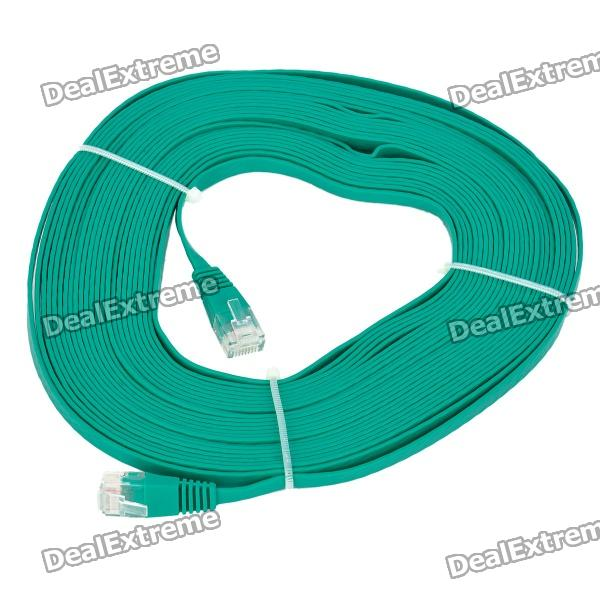 RJ45 to RJ45 Cat.6 Flat Network Cable - Green (10M)