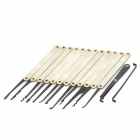 Stainless Steel Hook Lock Pick Set - Silver + Black (14PCS)
