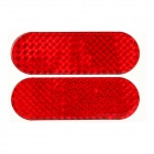 Car Vehicle Safety Reflective Stickers - Red (Pair / Size L)