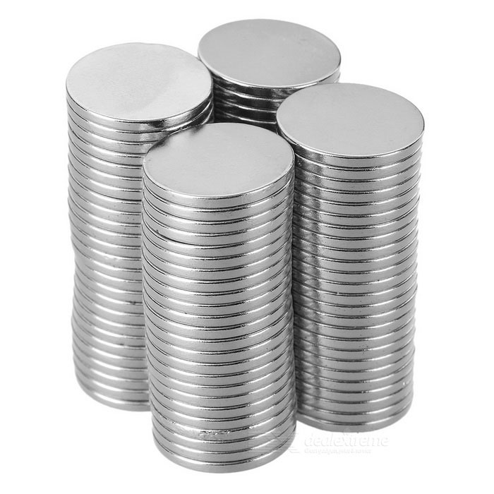 Super Strong Rare-Earth RE Magnets - Silver (20mm*2mm / 100PCS)