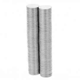 Super-Strong Rare-Earth RE Magnets -Silver (8mm / 100PCS)