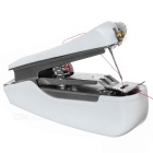 Spring Come Handheld Mechanical Sewing Machine - White + Silver