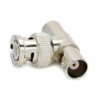 BNC Male na BNC Female 2 3-Way Connector Sockets - Silver (10 ks balení)