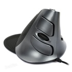 Delux-M618XU-Wired-1600DPI-USB-Vertical-Optical-Mouse-Black-(160cm)