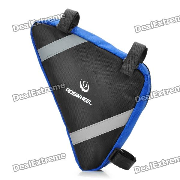 Buy Roswheel Outdoor Triangular Bike Bicycle Tools Bag - Blue + Black with Litecoins with Free Shipping on Gipsybee.com