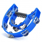 Instrument Double-layer Handbell Tambourine - Blue + Silver