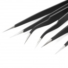WEITUS Stainless Steel Precision Straight / Angled Tweezers - Black