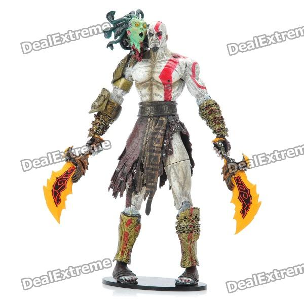 Buy God of War 2 PVC Action Figure Display Toy Doll - Kratos with Medusa Head with Litecoins with Free Shipping on Gipsybee.com