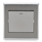 SMEONG Stainless Steel One Gang Power Control Wall Switch - Silver