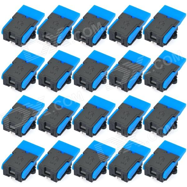 6-Pin Telephone Switches - Blue + Black (20-Piece Pack)