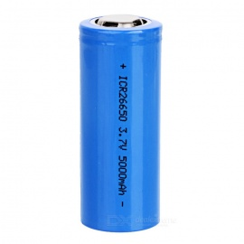 5000mAh-37V-Rechargeable-26650-Lithium-Battery-Blue
