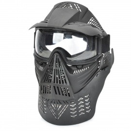 Stylish-Paintball-War-Game-Protection-Face-Mask-Shield-Black