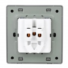 SMEONG Wall Mount 5-Pin Power Socket Outlet - Champagne