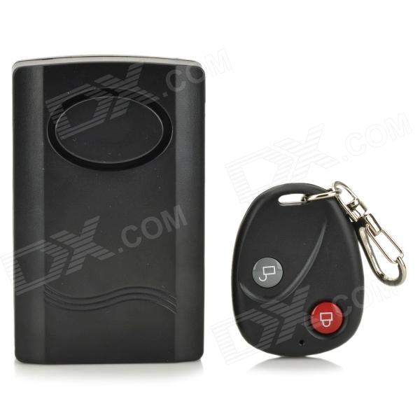 forecum Vibration Activated Wireless Security Alarm w/ RC - Black