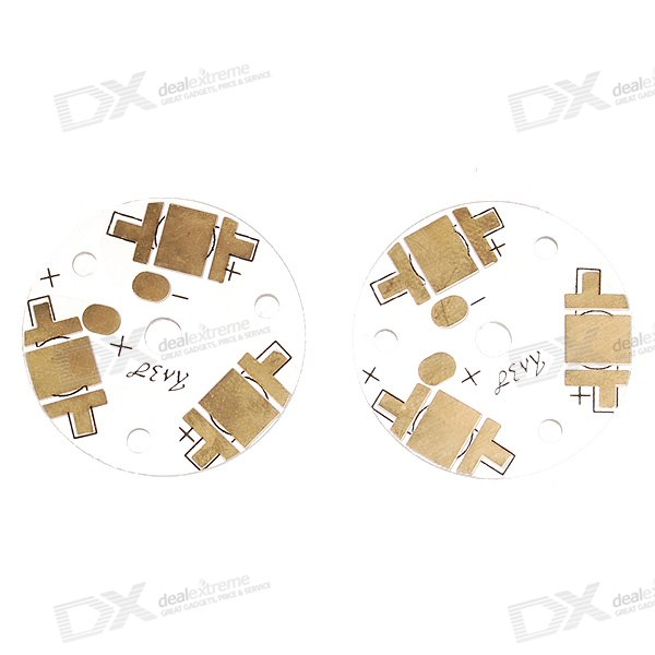3.15cm Aluminum Connection Board for 3*Cree LED Emitters (2-Pack)