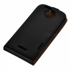 Protective Top Flip Leather + Plastic Case Cover for HTC One X